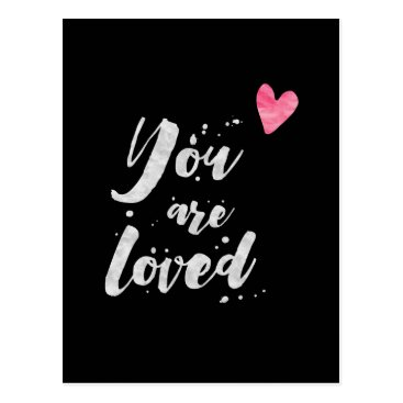 thetypographyshop You Are Loved - Inspirational Card