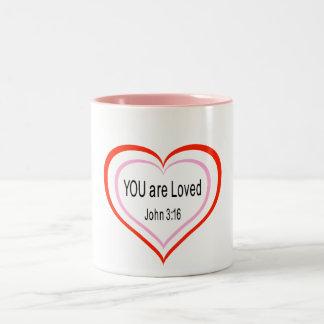 You Are Loved, mug
