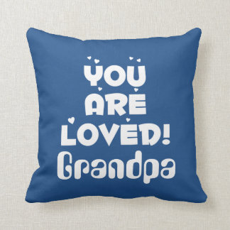 You Are Loved! Personalized Gift for HIM Throw Pillow