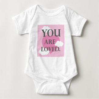 You are Loved (pink) Baby Bodysuit