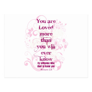 you are loved postcard