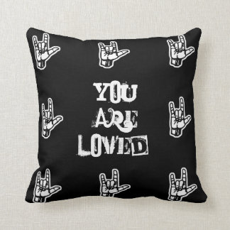 """""""You Are Loved"""" Sign Language Pillow"""