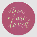 """You Are Loved Stickers<br><div class=""""desc"""">Perfect for all-occasion use as envelope seals or for adding to gift bags!  Beautiful!</div>"""
