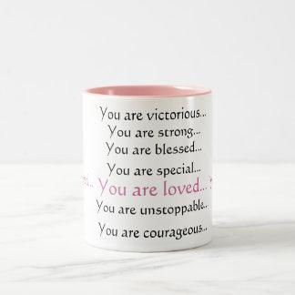 you are loved Two-Tone coffee mug
