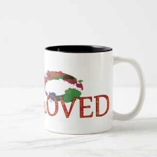 You are loved Two-Tone coffee mug