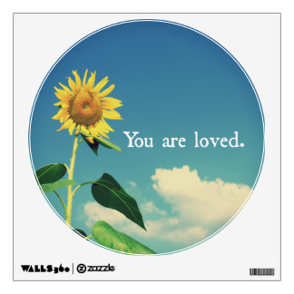 You are Loved with Sunflower Wall Sticker