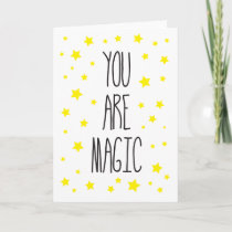 You are Magic Thank You Greeting card