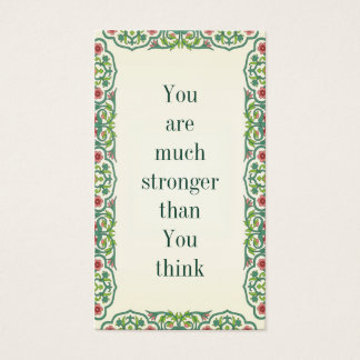 You are much stronger than You think Business Card