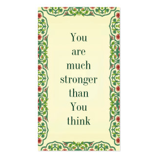 You are much stronger than You think Double-Sided Standard Business Cards (Pack Of 100)