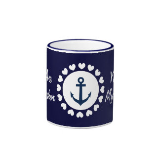 You are my anchor mug Nautical gift with hearts