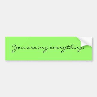 You are my everything!! bumper sticker