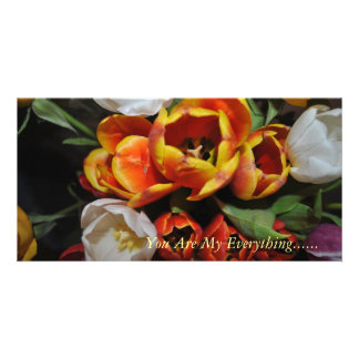 You are My Everything Popping Roses NoteCard Photo Cards
