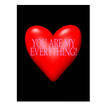 You Are My Everything Postcard