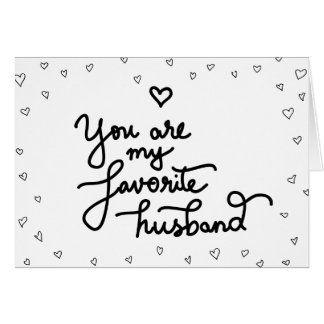 You Are My Favorite Husband Cute Hearts Valentine Card