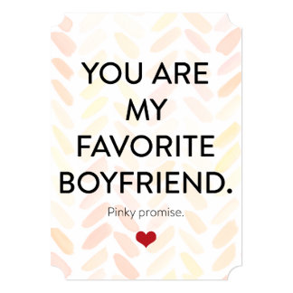 You are my favorite pinky promise on watercolor card