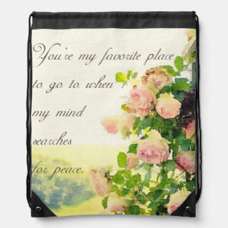 You Are My Favorite Place Drawstring Bag