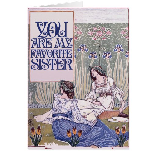You are my favorite sister card