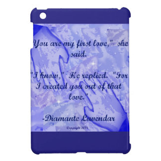 You Are My First Love by Diamante Lavendar Case For The iPad Mini