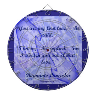You Are My First Love by Diamante Lavendar Dartboard With Darts