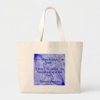 You Are My First Love by Diamante Lavendar Large Tote Bag