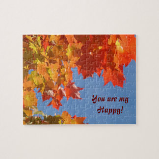 You are My Happy! puzzles Blue Sky Vivid Leaves