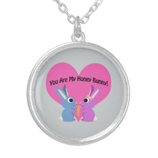 You are My Honey Bunny! Silver Plated Necklace