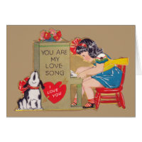 You are my Love Song Greeting Cards
