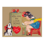 You are my Love Song Postcard