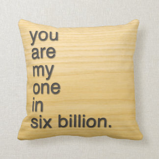 you are my one in six billion pillow