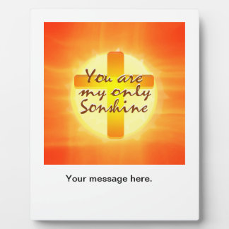 You are My Only Sonshine Plaque