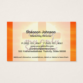 You are My Only Sunshine with Cross Business Card