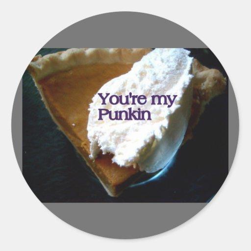 you are my punkin sticker