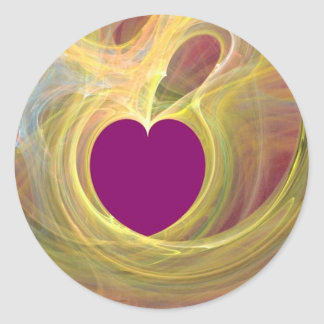 You are my purple heart_ Sticker_by Elenne Boothe Classic Round Sticker