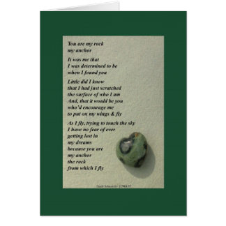 You Are My Rock... Card