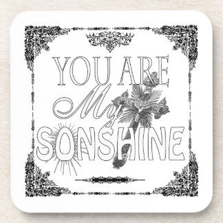 You Are My Sonshine Cork Coaster