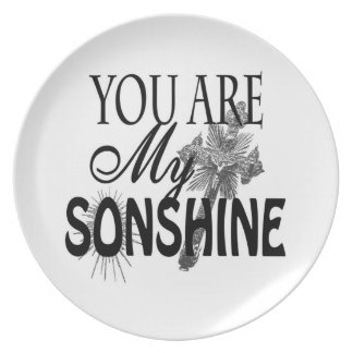 You Are My Sonshine Custom Plate