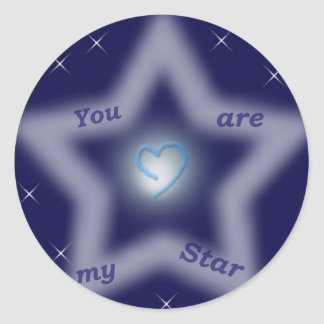 """You are my star"" Classic Round Sticker"