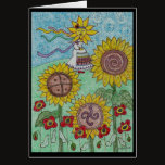 You are My Sun Woman Ukrainian Folk Art Card