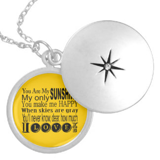 You Are My Sunshine Apparel and Gifts Round Locket Necklace