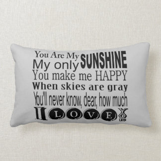 You Are My Sunshine Apparel and Gifts Throw Pillows