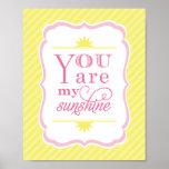 You Are My Sunshine Art Print Baby Nursery Decor
