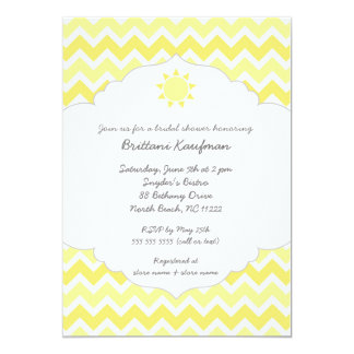 "You are my sunshine baby bridal shower invite 5"" x 7"" invitation card"