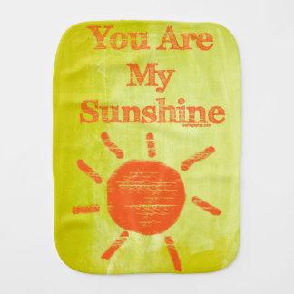 You Are My Sunshine Baby Burp Cloth