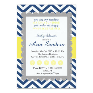 You Are My Sunshine Baby Shower 3.5x5 Paper Invitation Card