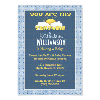 you are my sunshine invitations announcements zazzle