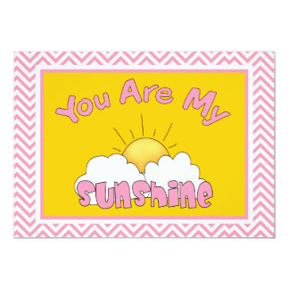You Are My Sunshine Baby Shower Invitation