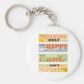 You Are My Sunshine Basic Round Button Keychain
