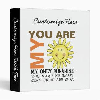 You Are My Sunshine Vinyl Binder
