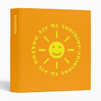 You Are My Sunshine Binder