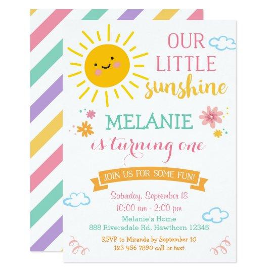 You Are My Sunshine Birthday Invitation Summer Invitation Zazzle Com